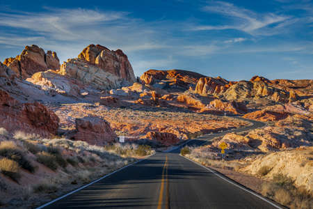 Journey through the mountains. Valley of Fire State Park, Nevada