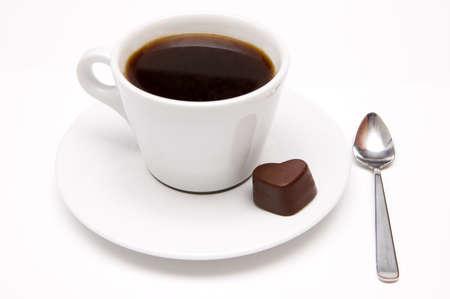 slurp: Taza de caf� y de un coraz�n del chocolate