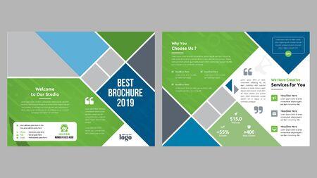 Firmowy szablon broszury składanej na dwie części