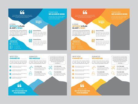 Modello di brochure ripiegabile aziendale