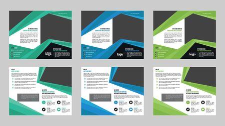 Modello di progettazione brochure a due ante per qualsiasi tipo di utilizzo aziendale