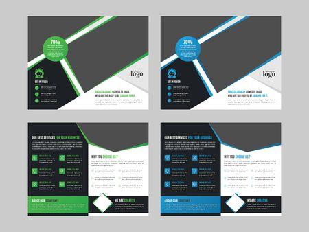 Ontwerpsjabloon voor tweevoudige brochure voor elk type zakelijk gebruik Vector Illustratie