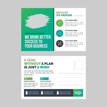 Post Card Template for any type of business use  イラスト・ベクター素材