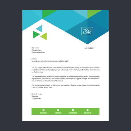 Letterhead template for any type of business use