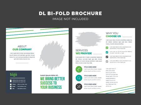 DL Bifold Brochure Template for any type of Business use Vektorové ilustrace