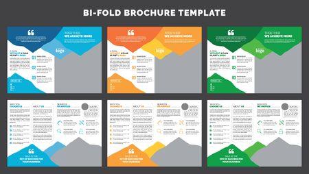 Corporate Bifold Brochure Template, Business Leaflet Template