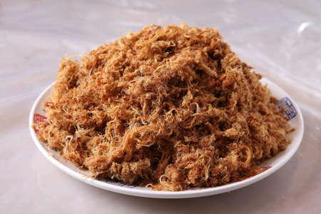 Pork Floss, Dried Shredded Pork, Meat Wool, Meat Floss, Rousong Stock Photo