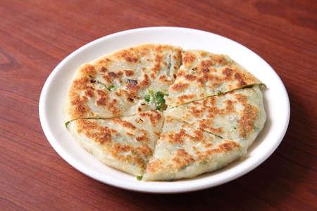 green onion: Chinese green onion pancakes