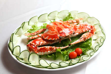 seafood dish - cooked crab