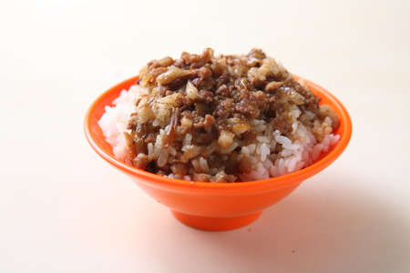 soy-stewed pork rice, Braised pork rice Stok Fotoğraf - 64989776