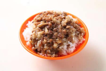 Sojestoofde Varkensrijst, Braised Pork Rice Stockfoto