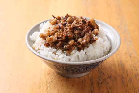 aliment: riz de porc de soja compotes, le riz de porc braisée