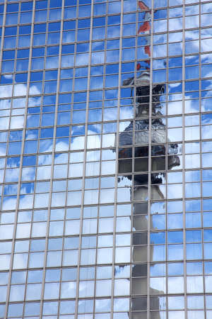 the reflection of television tower in Berlin