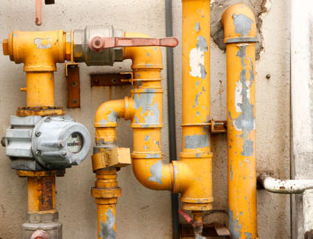 plastic conduit: yellow pipes