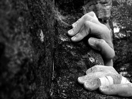 the edge: Rock climbing- on the edge