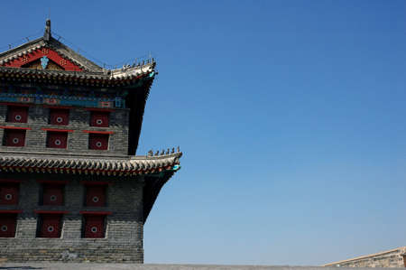 great Wall of China at Shanhaiguan. Stock Photo