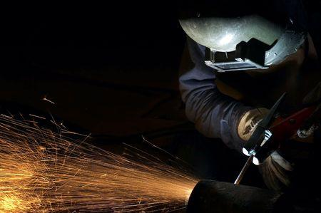welding metal: arc welder