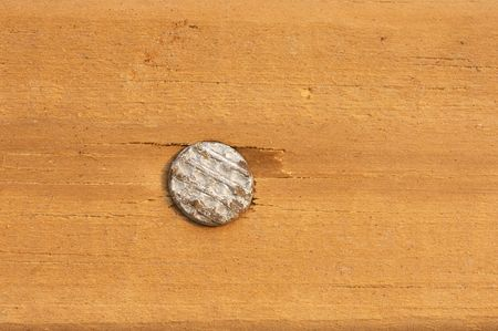nail in wood photo