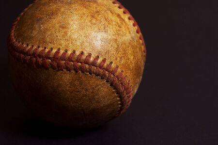 worn: old baseball
