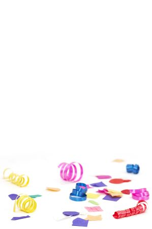 confetti and ribbons Stock Photo