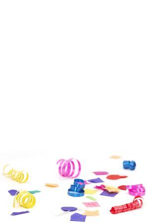 confetti and ribbons Standard-Bild