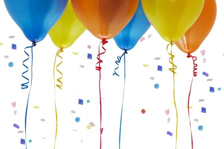 balloons and confetti Stock Photo - 753447