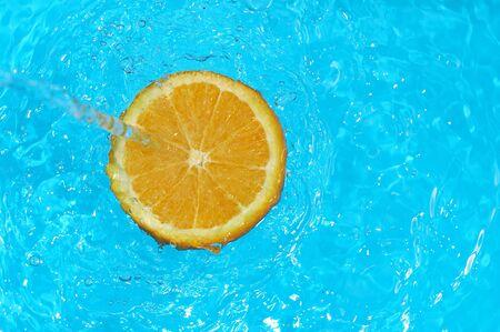 water falling on orange Stock Photo - 870521