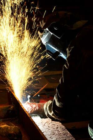 arc welder working