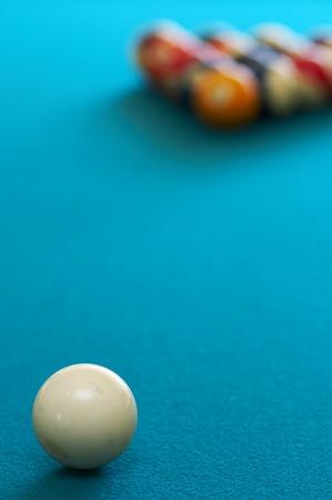 pool balls on pool table