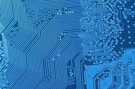 macro of blue circuit board 版權商用圖片