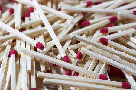 close up macro of a match sticks