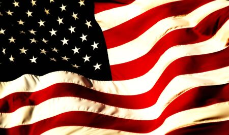 a close up picture of an american flag Stock Photo - 2323824