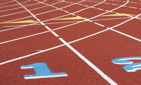 venue: a picture of a track and field venue Stock Photo