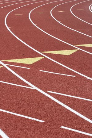 a picture of a track and field venue Stock Photo