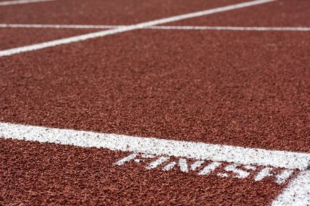 a macro picture of a track and field venue Stock Photo