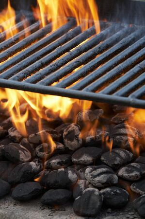 a close up of a charcoal grill