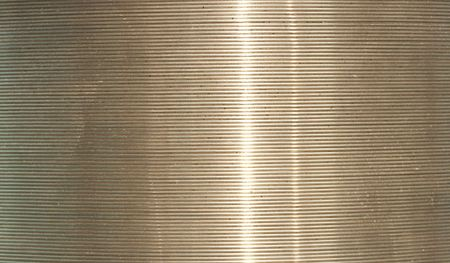 a close up picture of wire metal