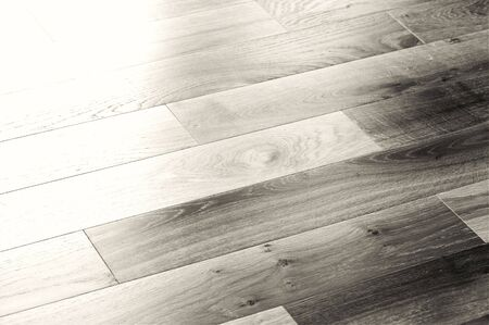 a picture of oak wood flooring up close Stock Photo