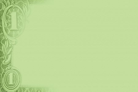 us paper currency: a green border of american currency