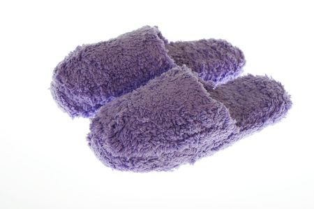 a picture of purple bedroom slippers