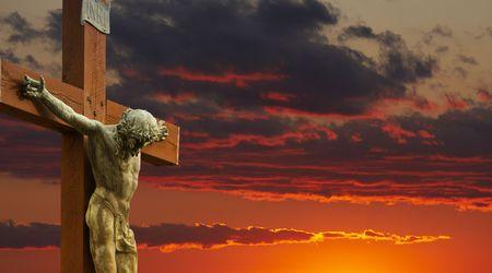 almighty: un'immagine di Ges� sulla croce Archivio Fotografico