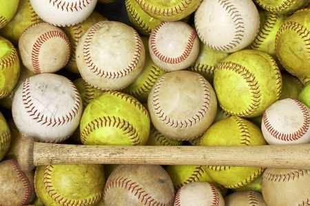a picture of baseballs and softballs Stock Photo - 4580207