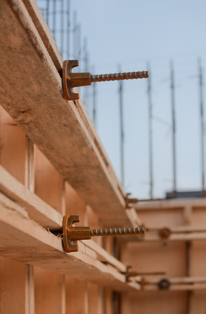 formwork: formwork for the concrete foundation, building site, vertical, outdoors