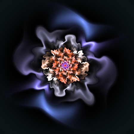 Abstract fractal beautiful flower computer-generated image. Background for wallpaper, album, poster, booklet. Fractal digital artwork for creative graphic design.