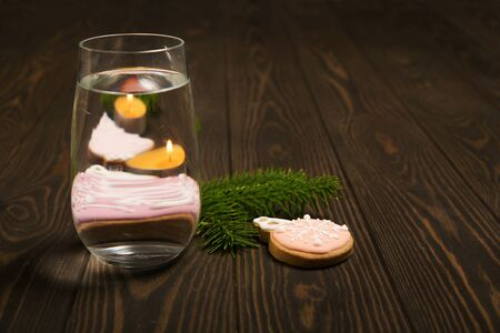 Perspective, fractured and skewed images of common foods as seen through vessels filled with water.