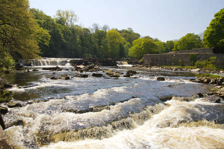 north yorkshire: A water fall at Richmond in north yorkshire