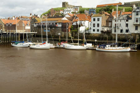 whitby: A few small boats moored at Whitby Editorial