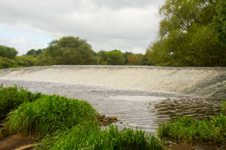 salmon run: View of a salmon run on the river caulder  Stock Photo