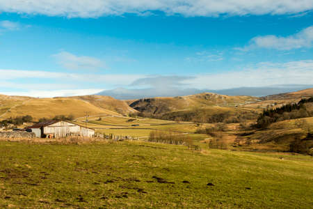 north yorkshire: Veiw across the fields and hills in north yorkshire Stock Photo