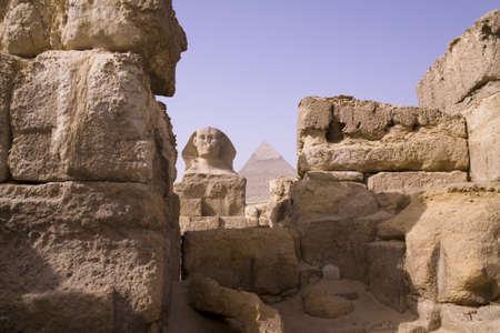 The Sphinx and Giza Pyramid of Khafre, Egypt photo